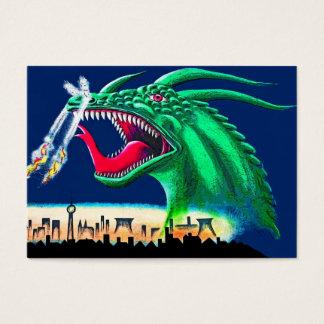 Galería de la zona este, muro de Berlín, dragón Tarjetas De Visita Grandes