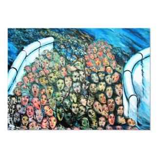 Galería de la zona este, muro de Berlín, escape Invitación 12,7 X 17,8 Cm
