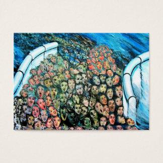 Galería de la zona este, muro de Berlín, escape Tarjetas De Visita Grandes