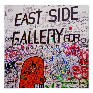 Galería de la zona este, muro de Berlín, pintada Póster