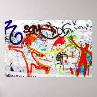 Galería de la zona este, muro de Berlín, pintada ( Póster
