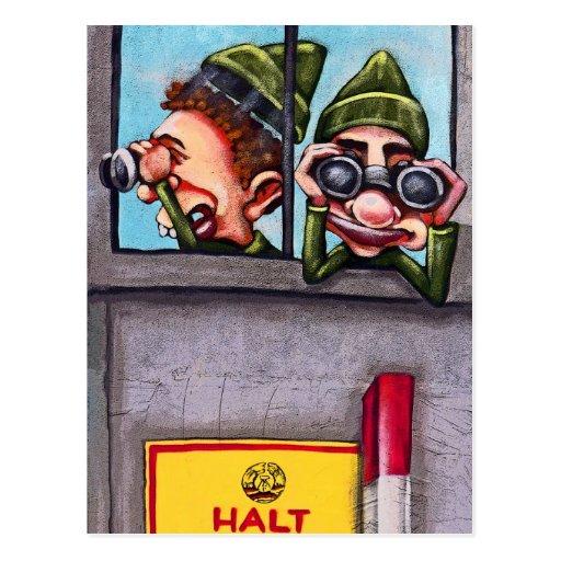 Galería de la zona este, muro de Berlín, Postal
