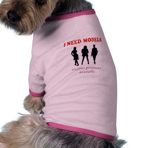 Galería de las maquetas calientes camiseta con mangas para perro