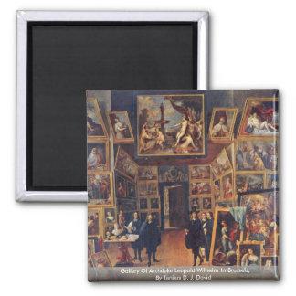 Galería del archiduque Leopold Wilhelm en Bruselas Imán Para Frigorifico