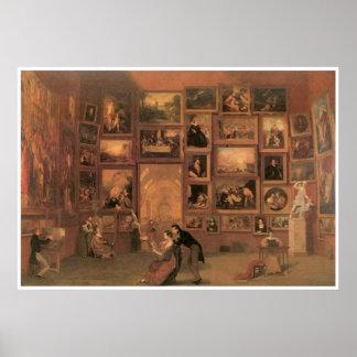 Galería del Louvre 1831-33 Póster