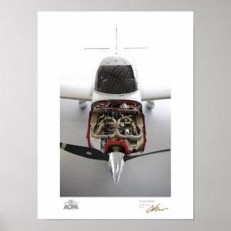 Galería del motor del cirro póster