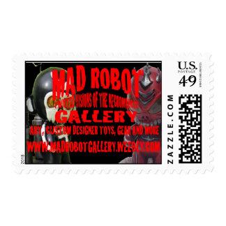 galería enojada del robot sellos