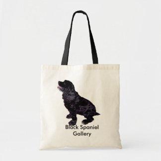 Galería negra del perro de aguas bolsa tela barata
