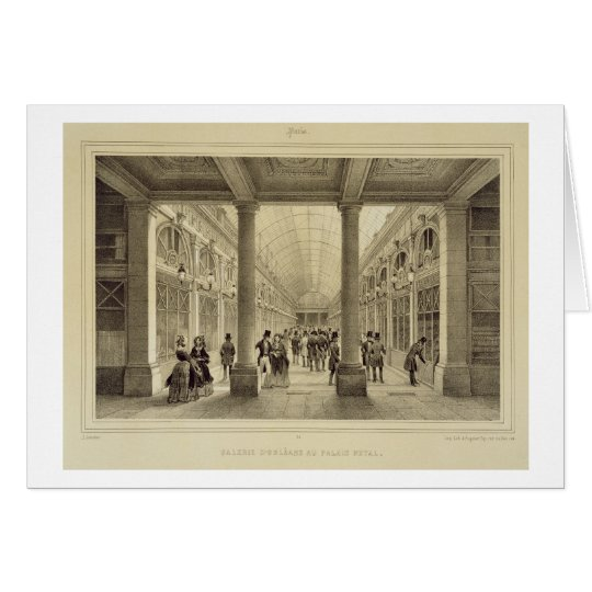 Galerie d'Orleans at the Palais Royal, from 'Paris Card