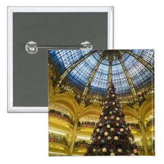Galeries La Fayette at Christmas, Paris, France Pinback Buttons