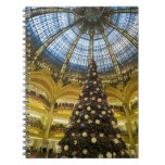 Galeries La Fayette at Christmas, Paris, France Spiral Notebook
