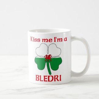 Galés personalizado me besa que soy Bledri Taza Básica Blanca