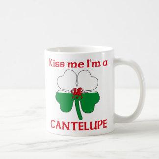 Galés personalizado me besa que soy Cantelupe Taza De Café