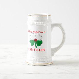 Galés personalizado me besa que soy Cantelupe Tazas De Café