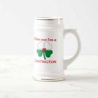 Galés personalizado me besa que soy Cantington Jarra De Cerveza