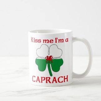 Galés personalizado me besa que soy Caprach Tazas De Café