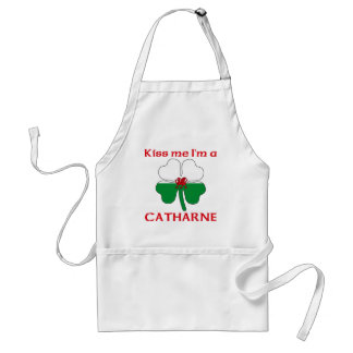 Galés personalizado me besa que soy Catharne Delantales