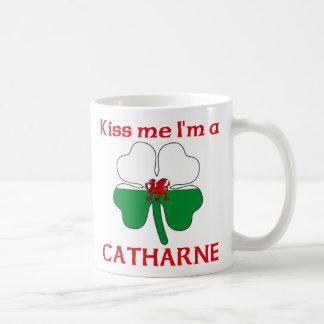 Galés personalizado me besa que soy Catharne Tazas
