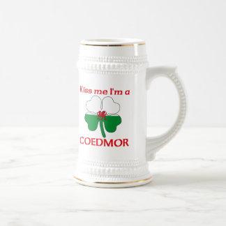 Galés personalizado me besa que soy Coedmor Taza De Café