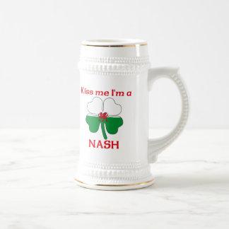 Galés personalizado me besa que soy Nash Taza