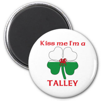 Galés personalizado me besa que soy Talley Imán Redondo 5 Cm