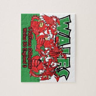 Galés seis campeones del rugbi de la nación, W 30- Puzzles