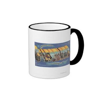 Galesburg, Illinois - Large Letter Scenes 2 Ringer Coffee Mug