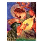 Galgo (Br2) - ángel de la mandolina Tarjetas Postales