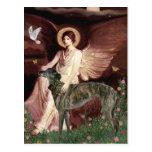 Galgo (Br) - ángel asentado Postal