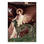 Galgo (Br) - ángel asentado Tarjetas