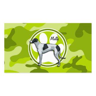 Galgo; camo verde claro, camuflaje tarjetas de visita