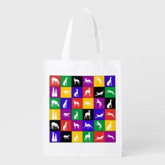 Galgo centón de colores - Einkaufstasche Bolsa De La Compra
