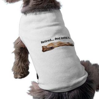 Galgo de GVV jubilado y que lo ama Camisa De Perro