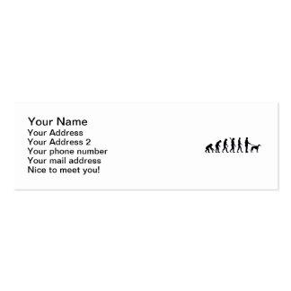 Galgo de la evolución tarjetas de visita mini