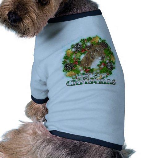 Galgo de las Felices Navidad Camisetas De Mascota