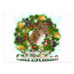 Galgo de las Felices Navidad Postal