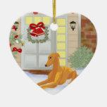 Galgo del navidad ornaments para arbol de navidad