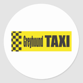 Galgo del taxi pegatina redonda