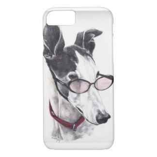 Galgo en caso del iPhone 7 del arte del perro de Funda iPhone 7