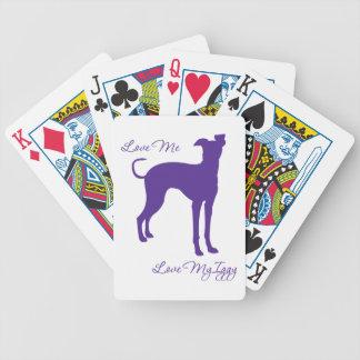 Galgo italiano baraja de cartas
