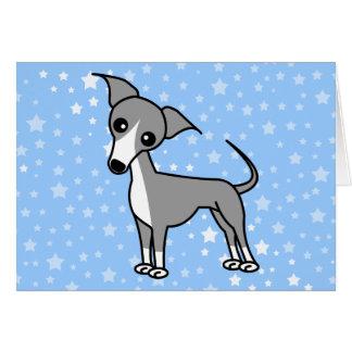 Galgo italiano lindo - gris tarjeta de felicitación