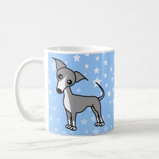 Galgo italiano lindo - gris taza
