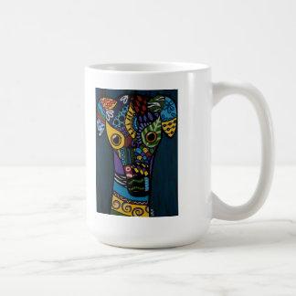 Galgo - jubilado compitiendo con rescate tazas de café