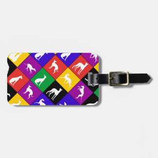 Galgo Patchwork multicolored - Kofferanhänger Bag Tag