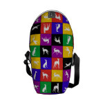 Galgo Patchwork, multicolored - mini curing ashes Courier Bags