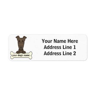 Galgo personalizado etiqueta de remite