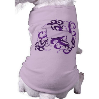 Galgo púrpura del remolino camiseta de perro