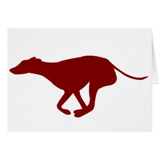Galgo (rojo) tarjeta de felicitación
