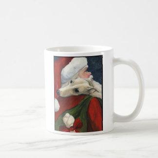 Galgo y taza del navidad de Santa