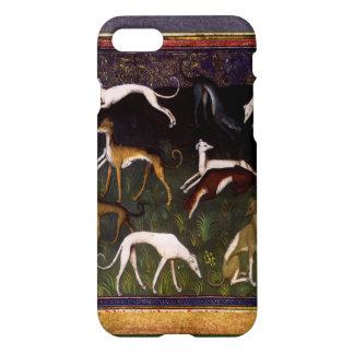Galgos medievales elegantes en el bosque profundo funda para iPhone 7